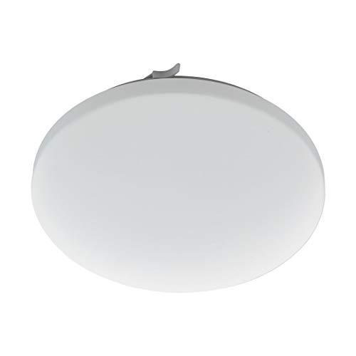 EGLO LED Badezimmer-Deckenlampe Frania, 1 flammige Deckenleuchte, Material: Stahl, Kunststoff, Farbe: weiß, Ø: 33 cm, IP44