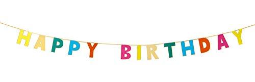 Talking Tables RAIN-GARLAND-HB regenboog Happy Birthday slinger (3M), papier, meerkleurig