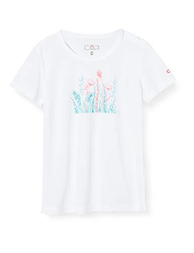 CMP T-Shirt 38T6385, Bambini e Ragazzi, Bianco-Glass, 164