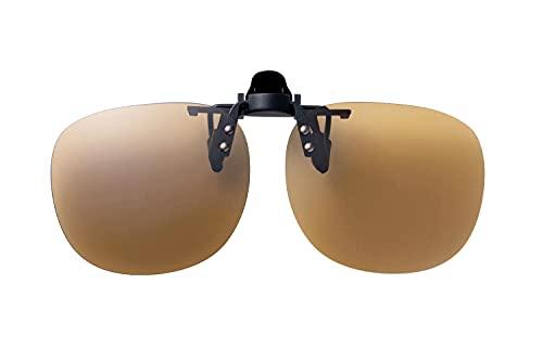 SWANS(スワンズ) 日本製 偏光 サングラス メガネにつける クリップオン 跳ね上げタイプ SCP-21_LBR LBR 偏光ライトブラウン l
