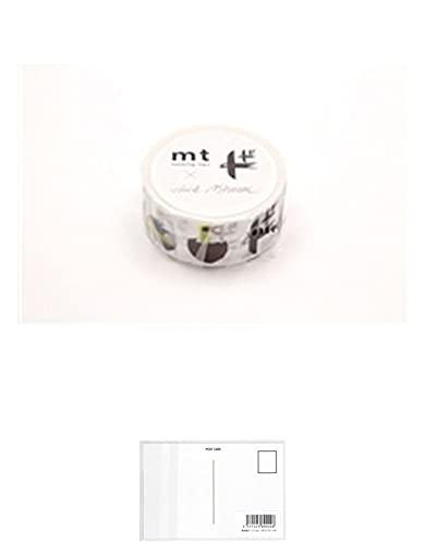 カモ井 マスキングテープ mt×エリック・ブルーン MTERIK02 鳥 + 画材屋ドットコム ポストカードA