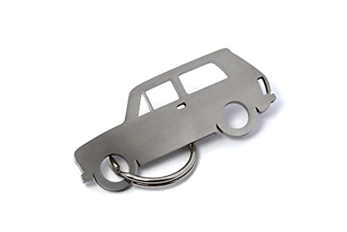 Streetculture Carshape Motiv Schlüsselanhänger aus Edelstahl - Typ Kompatibel mit Lada Niva