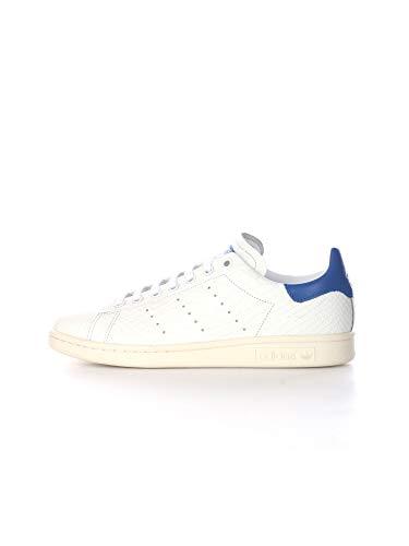 ADIDAS Stan Smith Zapatos Deportivos para Hombre en Piel Blanca, Verde y Azul FU9587
