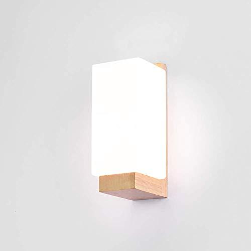 LED houten wandlamp wandlamp binnenverlichting leeslamp bedlampje energiebesparend voor kinderkamer woonkamer slaapkamer warm licht