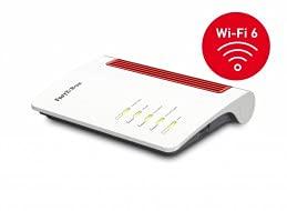 AVM FRITZ!Box 7530 AX WI-FI 6 International Modem Router, Wi-Fi AX Veloce 1.800 MBit/s(5GHz)& 600 MBit/s(2,4 GHz), velocità internet fino a 300 MBit/s, Base DECT, Media Server, interfaccia in italiano
