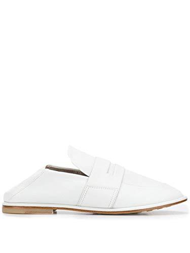 AGL Slip-on Mokassins mit runder Zehe, flache Ledersohle, Weiß - weiß - Größe: 40 EU