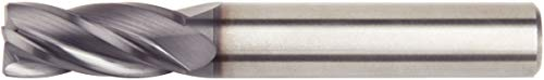 WIDIA Hanita 25281600T032 VariMill 2528 GP Rough/Finish End Mill, 0.3 mm Chamfer, 16 mm Cutting Diameter, Carbide, TiAlN, RH Cut, Straight Shank, 4-Flute