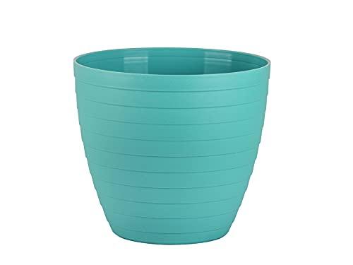 Macetas para Exterior de Plástico 15 cm (2 uds) Maceta plástico Grande para Plantas. Macetero Interior Terraza Moderno de Colores para Jardinería. Tiestos Jardineras para Flores