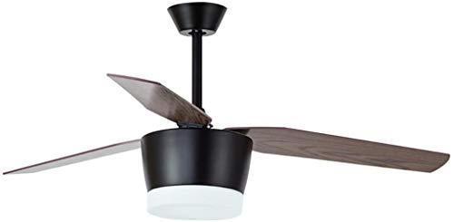 52 Inch Scandinavische houten blad van de ventilator aan het plafond Light Moderne Minimalistische 24Wled salon eetkamer Ventilator met Lamp? (Kleur: Wit Regular (Wall Control)), Kleur: Wit Regular (a