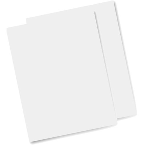 Bramacartuchos 25 Hojas Papel DE OBLEA para Tartas DE Color Blanca L30(Grosor DE Approx 0.3mm(Papel DE ARROZ) para Tinta Comestible, envío Desde Madrid