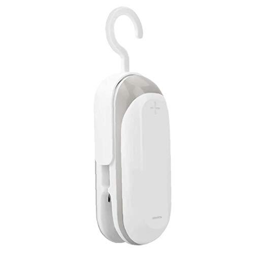 NIDONE Mini sellador del Bolso de Mano 2 en 1 vacío térmico Sellador Bolsa de Almacenamiento de Alimentos en el hogar de plástico portátil con Gancho para Blanco bocado preservación
