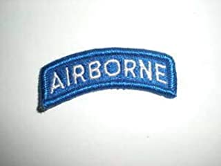 U.S. Army Airborne TAB Patch - Full Color - White/Blue by HighQ Store