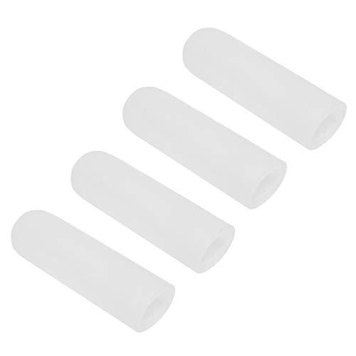 sharprepublic 4Stk. Fingerschutz Silikon Gel Zehenschlauch Schlauchbandage Fingerkappen für Hühneraugen, Blasen - Weiß