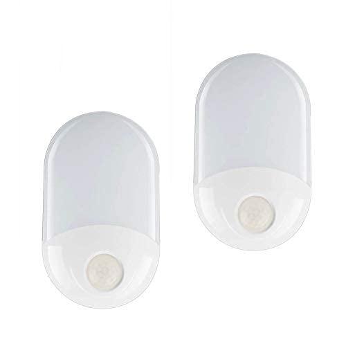 HTOUR Luz Nocturna [Paquete de 2], luz Nocturna LED de Pared automática Plug-and-Play con Sensor de Movimiento, luz Nocturna Infantil para Habitaciones Infantiles, Salas de Estar, baños y pasillos.