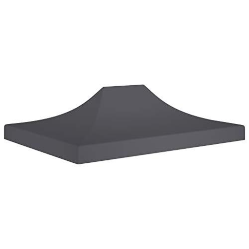 vidaXL Partyzelt Dach UV-beständig Wasserbeständig Ersatzdach Dachplane Zeltdach Ersatz Dach Plane für Gartenzelt Pavillon 4,5x3m Anthrazit 270g/m²