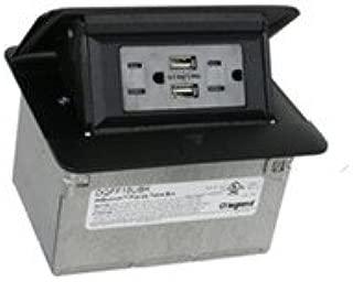 Legrand Adorne DQFF15UBK Field Wired Dequorum Single Flip Up Unit With USB