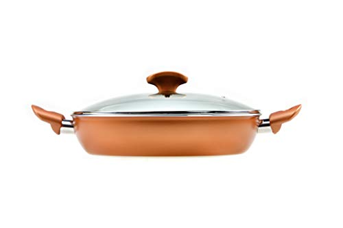 RAVELLI Italia Linea 20 Non Stick Saute Pan With Lid, 11inch