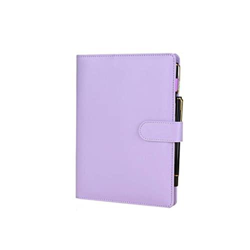 Riyyow Cuadernos Diario A5 Carpeta de Cuero Blocsepads Libro de Diario Recargable con revistas de Viaje para bolígrafos Cuadernos durables (Color : Blue)