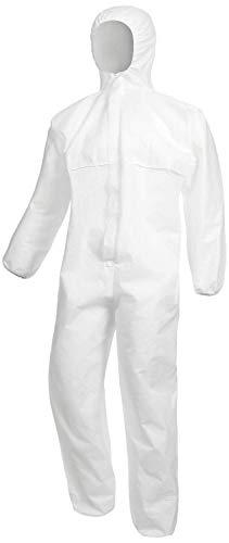 Nitras Polysafe Basic II - Chemikalien-Arbeitsoverall m. Kapuze - Weiß - Gr. 2XL