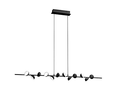 Mantra Iluminación. Modelo ADN. Lámpara de pie fabricado en aluminio y hierro acabado en color negro