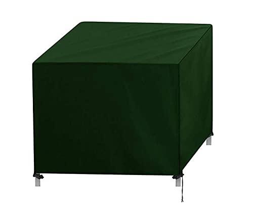 Fundas para Muebles de jardín Cubierta de Mesa Rectangular para Exteriores 420D Poliéster Oxford Resistente al Viento y Anti-UV Cubierta para Muebles de Patio Impermeable (Verde)