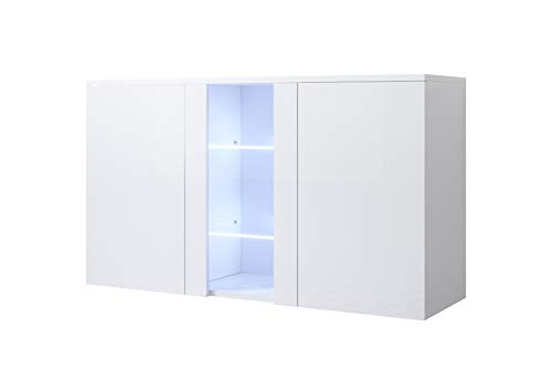 muebles bonitos Aparador Modelo Luke A1 (120x70cm) Colgante Color Blanco