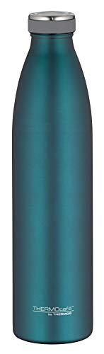 ThermoCafé Thermosflasche TC Bottle 1L, Trinkflasche kohlensäurefest, Edelstahlflasche türkis, Isolierflasche auslaufsicher, Wasserflasche 4067.255.100, Thermoskanne 12 Stunden heiß, 24 Stunden kalt