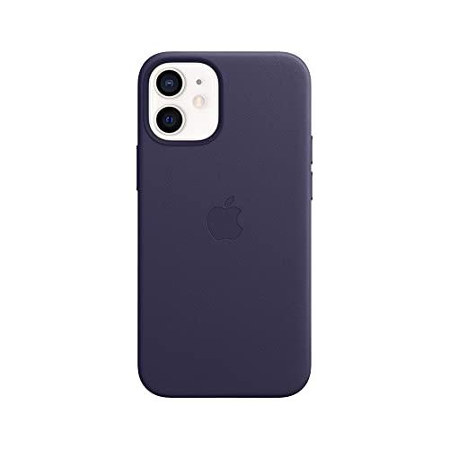 Apple Leder Hülle mit MagSafe (für iPhone 12 Mini) - Dunkelviolett