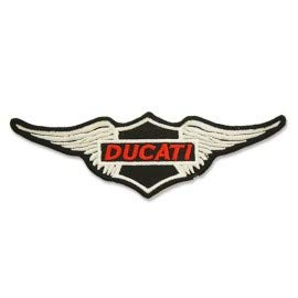 PATCHMANIA Ducati Corse Logo 10,0 cm Aufnäher Bügelbild, Patch Embroidered Patches Iron on
