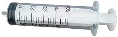 PintoMed Jeringa Desechable Esteril 3 Partes - 50 ml - Luer Slip - Paquete de 25 unidades