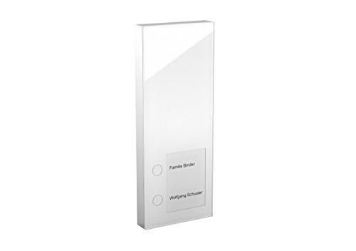 DoorLine Slim Weiß Türsprechanlage, Klingel, Türöffner anschließbar, Haustelefon und Handy als Gegensprechanlage, Anschluss a/b 2-Draht, Aufputz auf Standard Unterputzdose