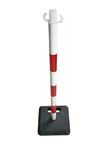 Kettenständer Absperrpfosten Kette Kunststoff rot/weiß Massiver Fuß vers. Längen (20m)