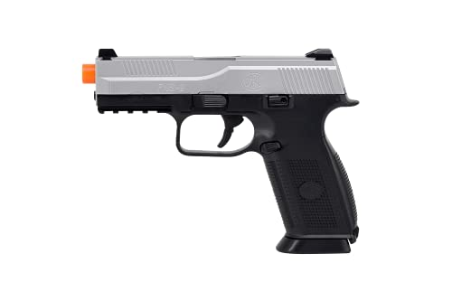 FN Herstal FNS-9 Spring Powered Airsoft Pistol, Black/Silver, 300 FPS