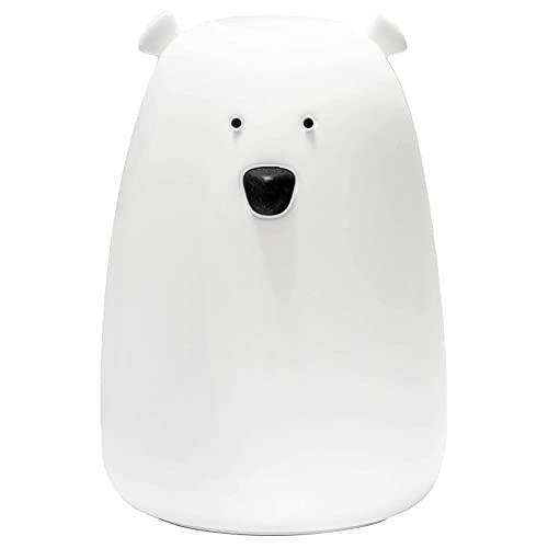 Big White Bear USB Carga Colorido ventilación lámpara de Silicona lámpara de Escritorio lámpara de Noche Dormitorio de Noche levantarse y amamantar la luz de la Noche