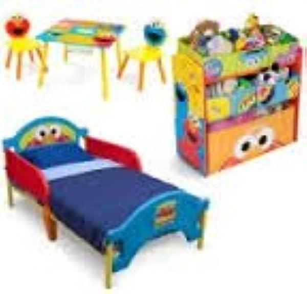 Sesame Street Toddler Bedroom Set With BONUS Toy Organizer Does Not Ship To CALIFORNIA