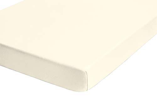 biberna 0012344 Frottee-Stretch Spannbetttuch (Matratzenhöhe max. 22 cm) (Baumwolle/Polyester) 90x190 cm -> 100x200 cm, kakao