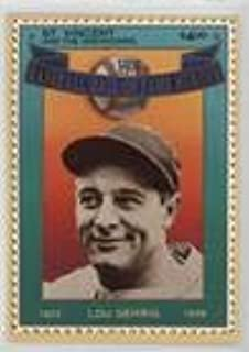 Lou Gehrig (Baseball Card) 1992 St. Vincent and the Grenadines Baseball Hall of Fame Heroes Stamp Cards - Box Set [Base] #5