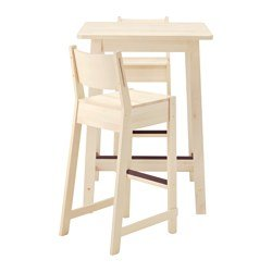 Ikea Bartisch + 2 Barhocker weiß Birke weiß weiß Birke 2204.20517.2918