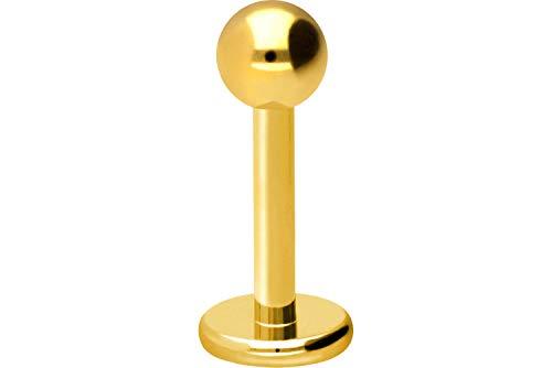 PIERCINGLINE Titan Labret Stecker | Kugel | Piercing Ohr Lippe Nase | Farb & Größenauswahl