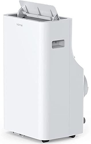 hOmeLabs 12000 BTU Portable Air Conditioner (new CEC 8000 BTU) - Quiet AC Unit Cools Rooms 300-450 Square Feet - with Wheels, Washable Filter, Remote Control and LED Indicator Lights