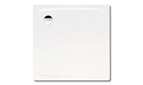Kaldewei Superplan Quadrat Duschwanne weiß 80 x 80 x 2,5 cm 447548040001 inkl. Styroporträger / Wannenträger, Ablaufgarnitur:ohne Viega Ablaufgarnitur flach