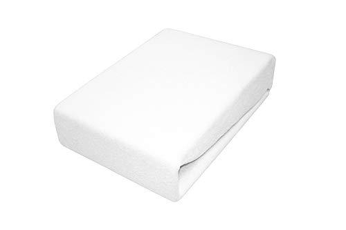 Soft Dream Bettlaken Spannbettlaken - 28 Farben - 100% Baumwolle Jerse (80 x 160 cm, Weiss)