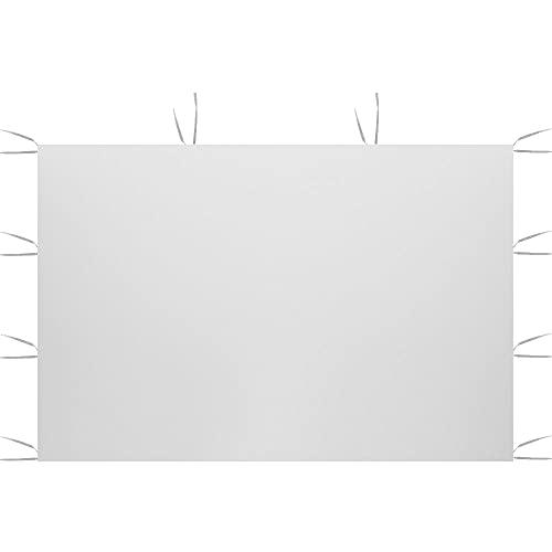 Maalr 3 x 2 m Solo paneles laterales del dosel, panel lateral del cenador de la cortina, superficie de la tienda superior de tela Oxford 210D impermeable (estilo A, blanco)