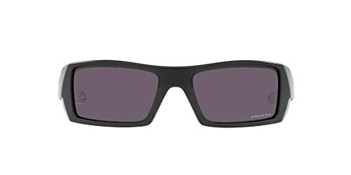 Oakley Men's OO9014 Gascan Rectangular Sunglasses, Matte Black/Prizm Grey, 60mm