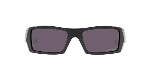 Oakley Men's OO9014 Gascan Rectangular Sunglasses, Matte Black/Prizm Grey, 60mm