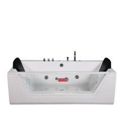 Bañera de hidromasaje Whirlpool Lugano Spa en blanco Cuarto de baño