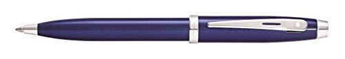 Sheaffer 100 Kugelschreiber Blau Lack mit Chrom Applikationen