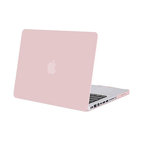 MOSISO Custodia Rigida Compatibile con Vecchio MacBook PRO 13 Pollici A1278 con CD-Rom Case 2012/2011/2010/2009/2008 Plastic Case Cover Rigida Copertina,Quarzo Rosa