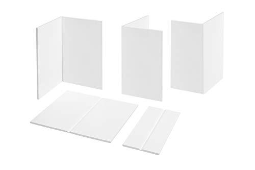 2 Meter | Flachprofil | PVC | Knickwinkel | SKS | weiß | Hexim | 136 SKS