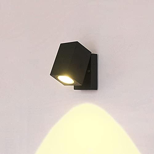 NStar Lampada da Parete Interno Esterno Applique da Parete Interni, 5W GU10 IP65 Impermeabile LED Regolabile Alluminio Moderno Lampada da Muro, per Interno Esterno Servizi Pubblici Luce Notturna